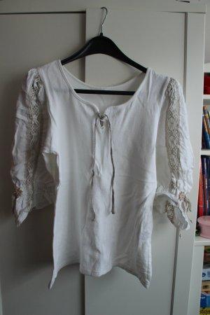Maglione tradizionale bianco sporco Cotone