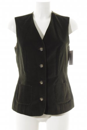 Traditional Vest khaki-forest green velvet appearance