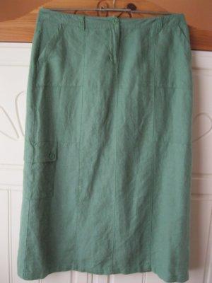 Trachtiger Leinenrock grün, lang, Frank Walder