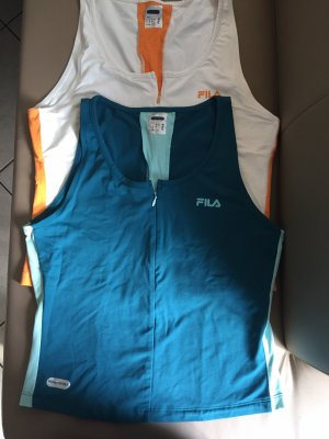 Fila Sportshirt wolwit-cadet blauw