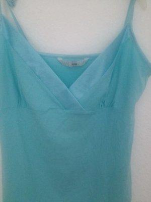 H&M Top con bretelline azzurro-celeste Cotone