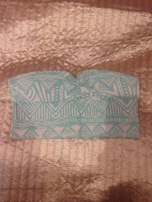 Trägerfreies Top mit Azteken Muster