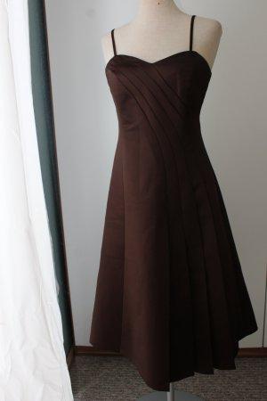 Trägerkleid Abendkleid Cocktailkleid knielang Kleid Gr. 34 XS braun schoko Zero