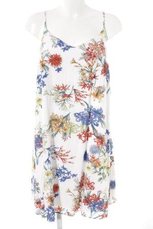 Robe à bretelles motif de fleur style décontracté