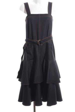 Trägerkleid dunkelblau-dunkelorange Casual-Look