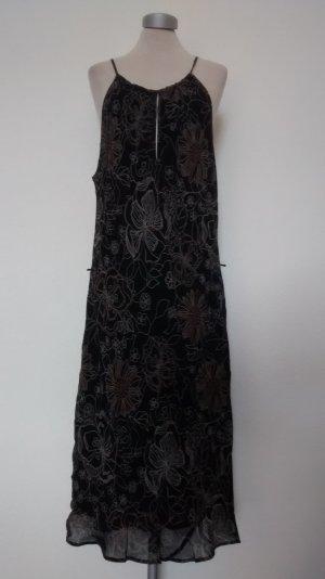 Trägerkleid Kleid Gr. UK 18 EUR 44 46 braun schwarz Sommerkleid Marks & Spencer