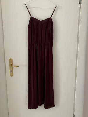 H&M Conscious Collection Abito midi bordeaux