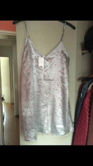 Trägerkleid mit Perlen