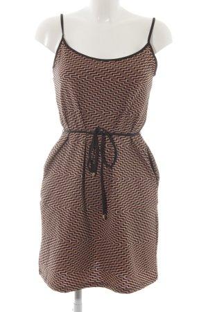 Trägerkleid schwarz-bronzefarben abstraktes Muster Elegant