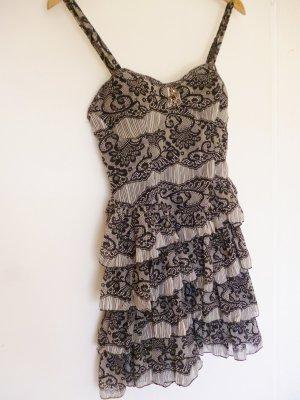 Trägerkleid schwarz-grau gemustert