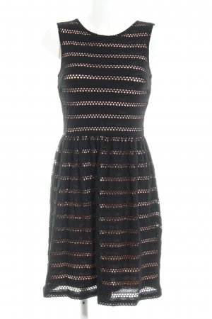 About You Pinafore dress black loosely knitted pattern casual look