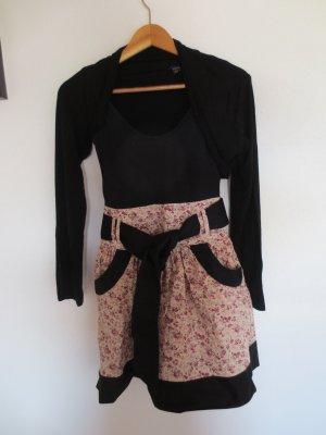 Trägerkleid schwarz mit Bolero Jackerl, gr. 36