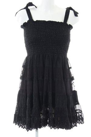 Trägerkleid schwarz schlichter Stil