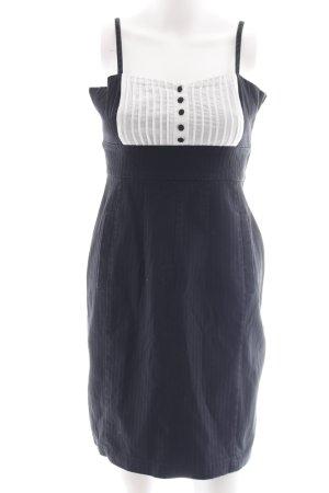 Trägerkleid schwarz-weiß Casual-Look