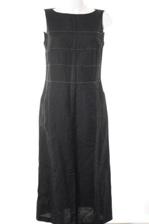 Robe à bretelles noir-blanc style simple