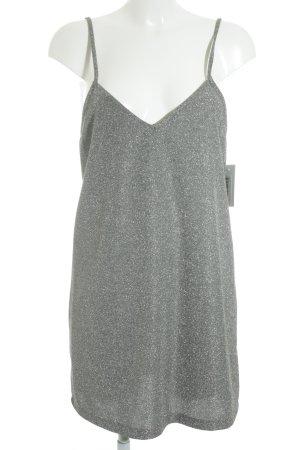 Trägerkleid silberfarben-grau meliert Elegant