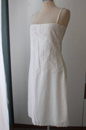 Vestido tipo overol blanco Algodón
