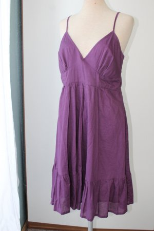 Trägerkleid Sommerkleid Kleid kurz John Baner lila 100%Baumwolle Gr. M L 40