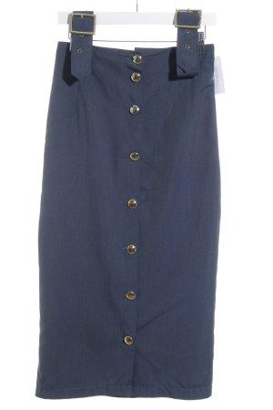 Trägerkleid stahlblau Jeans-Optik