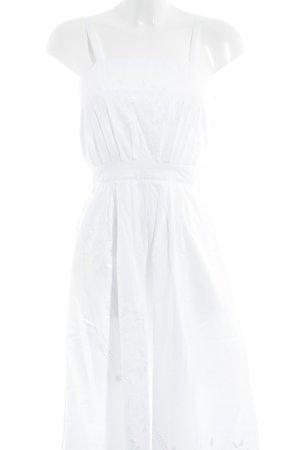 Trägerkleid weiß Blumenmuster Romantik-Look
