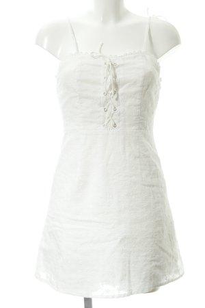 Pinafore dress natural white floral pattern elegant