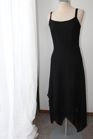 Trägerkleid Zipfelkleid Länge 1,30m Sommernachtskleid schwarz Midikleid Gr. 36 S gothic