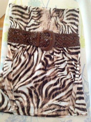 "Trägerloses Animal Print top ""Giraffe Style"""