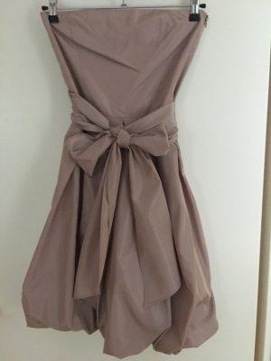 Zara Basic Vestido strapless rosa empolvado