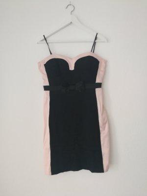 Off the shoulder jurk zwart-rosé