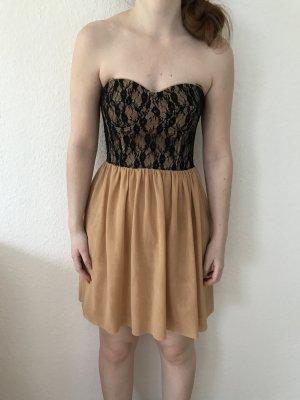 Guess Vestido strapless multicolor
