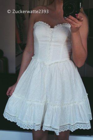 Guess Vestido bandeau blanco puro-crema
