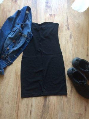 Trägerloses Jerseykleid