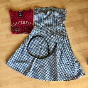 Trägerloses kariertes Sommerkleid von One Green Elephant + OGE T-Shirt
