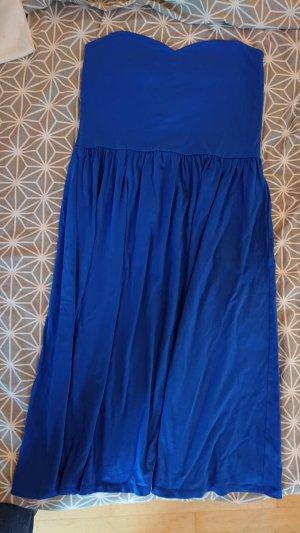 Asos Vestido strapless azul
