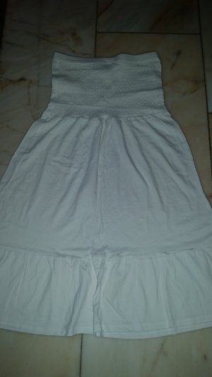Blue Motion Vestido strapless blanco