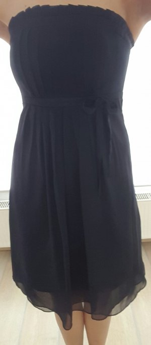 Trägerloses Kleid Dunkelblau