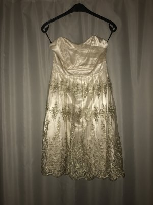 Trägerloses Kleid in Gold