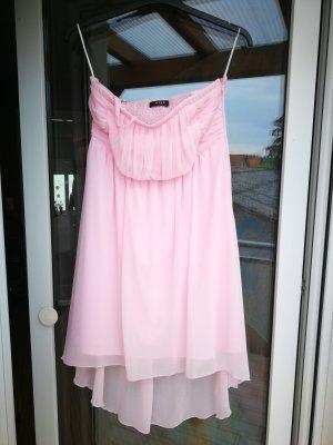 Trägerloses Kleid in Hellrosa
