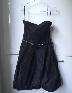 Zara Robe épaules nues noir-gris anthracite