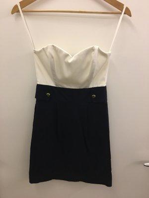 Trägerloses Kleid Minirock