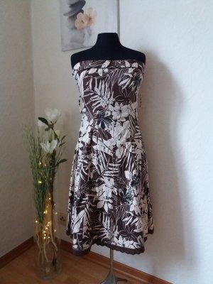 Trägerloses Kleid mit Corsage Gr. 38