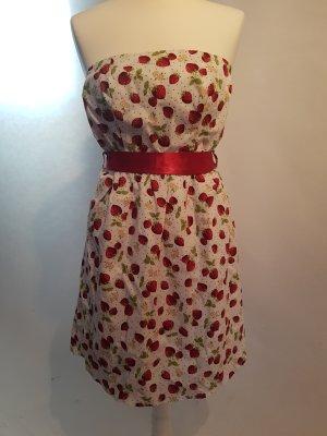trägerloses Kleid mit Print