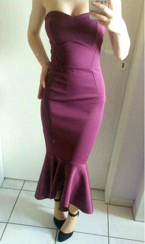 Trägerloses Kleid von Asos Petite in violett *NEU MIT ETIKETT*