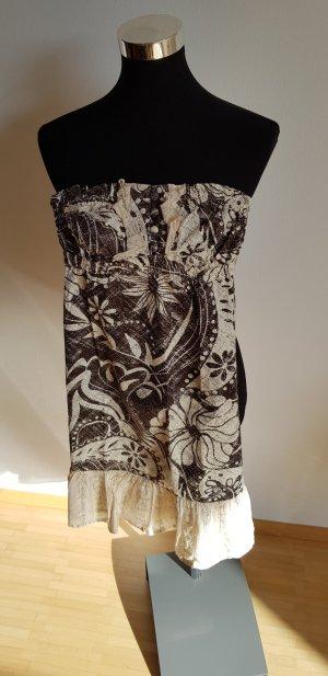 Billabong Vestido blanco-marrón-negro