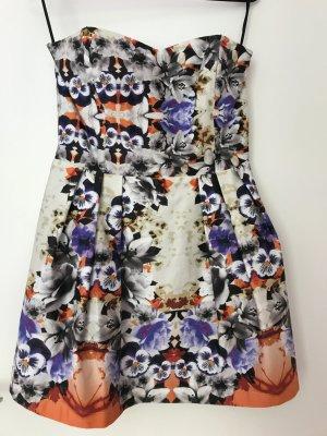Trägerloses Minikleid von Asos mit Blumenprint
