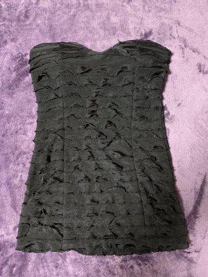 Camisa de un solo hombro negro