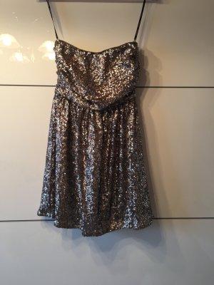 A.J.Morgan Sequin Dress gold-colored-silver-colored