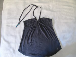 Roxy Backless Top anthracite cotton