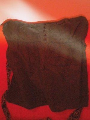 trägerloses Shirt mit Seidengürtel in Größe S