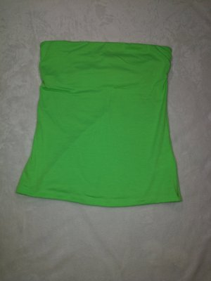 H&M Off the shoulder top neon groen